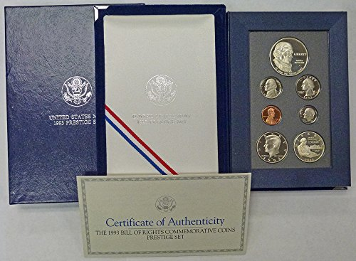 Madison Mint Dollar - 1993 S Prestige Proof Set 1993 James Madison Silver Dollar OGP