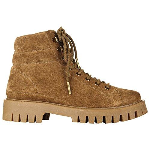 Superdry Boots Selina Workboot Cognac Suede Marron Caramel mwKUNTty
