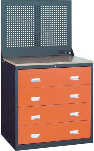 TRUSCO TWK型3ロックキャビネット 900X650 4段 Pパネル付 黒 TWK904WP