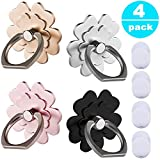 Phone Ring Stand Holder 4 Pack - 360°Rotary Finger Grip Stand Holder Ring - Car Mount Universal Smartphone Kickstand for iPhone / Samsung / Galaxy / Phone Case - Lucky Flower