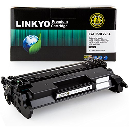 LINKYO Replacement for HP 26A CF226A Toner Cartridge (Black)