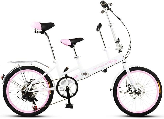 Paseo Bicicleta Plegable Padre-Hijo De Bicicletas 20 Pulgadas De ...