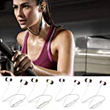Bluetooth Sports Earphones Earbuds Headset Rechargeable Bilateral in-Ear Type Build-in 500mAh Battery Stereo Music Headphones for Internet Bar Bluetooth Mobile Phone Walkman