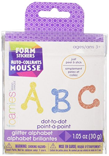 Darice Foam Glitter Stickers 1.05oz, Dot to Dot Alphabet]()