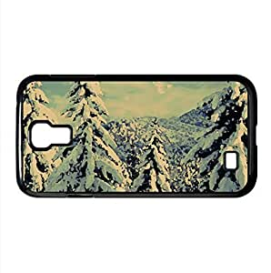 Snowy Trees Watercolor style Cover Samsung Galaxy S4 I9500 Case (Winter Watercolor style Cover Samsung Galaxy S4 I9500 Case)
