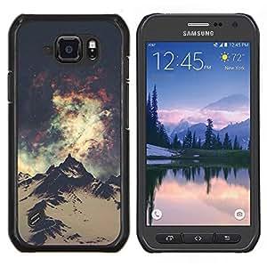 Sky Lights Vía Láctea Everest- Metal de aluminio y de plástico duro Caja del teléfono - Negro - Samsung Galaxy S6 active / SM-G890 (NOT S6)