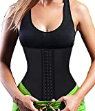 3-5 Days Delivery Latex Waist Trainer Corsets Long Torso Slimming Tummy Control Waist Training Cincher Underbust Corset Women Girdles Fajas Workout Body Shaper (2XL/(Waist 31.5''-33.5''), Black)