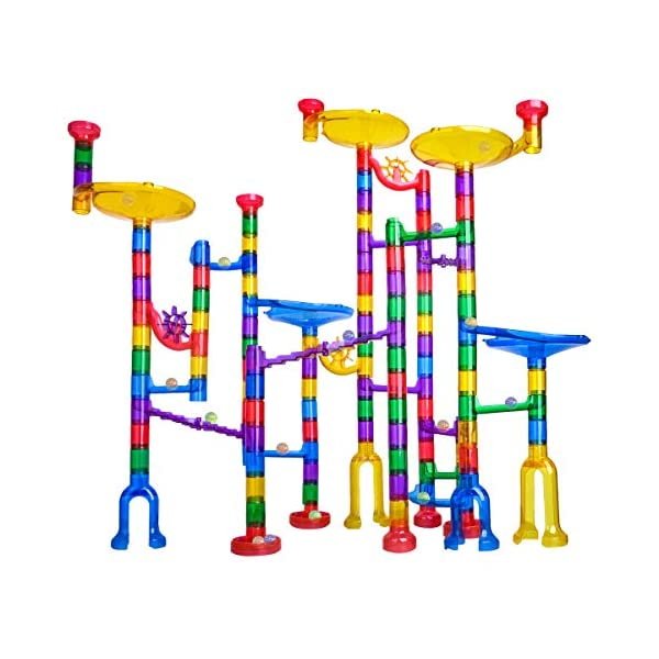 51p31yRsuwL. SS600  - Meland Marble Run - 122Pcs Marble Maze Game Building Toy for Kid, Marble Track Race Set&STEM Learning Toy Gift for Boy…