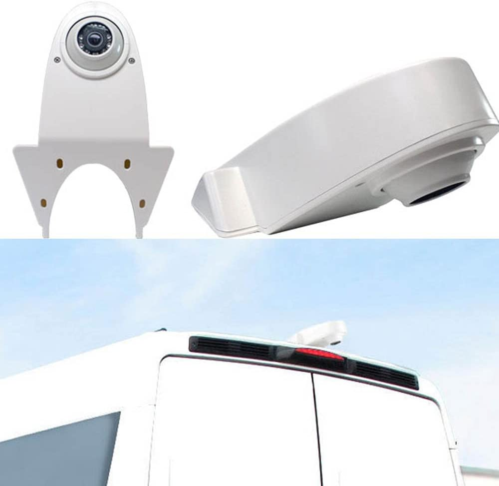 Transporter cam/éra de recul en particulier pour van fourgon pour Transporters Viano Vito Transit Ducato VW Crafter T5 Master all other transporters with brake light at the roof