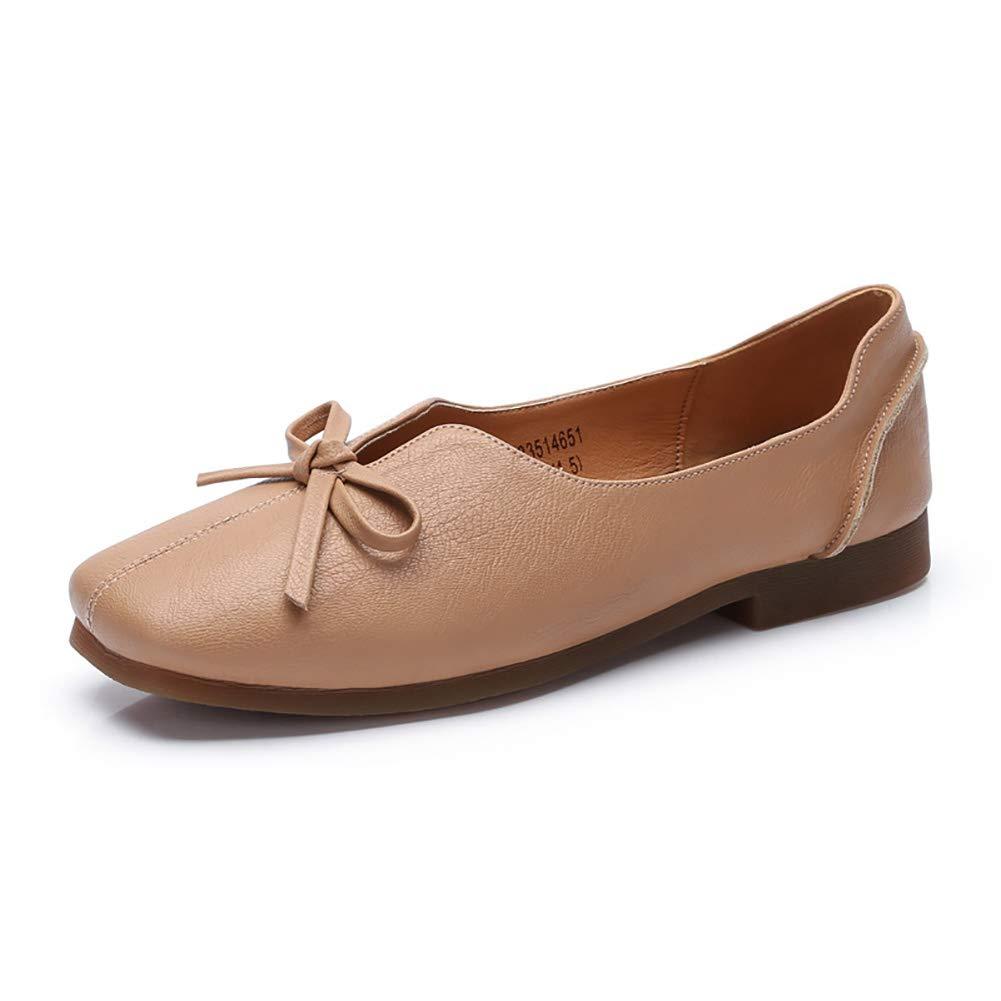 Damenschuhe Sommer und Herbst Egg Roll Roll Roll Schuhe Flachen Mund Scoop Schuhe Weichen Flachen Niedrigen Ferse Schuhe Fairy Gentle schuhe (Farbe   Aprikosenfarbe größe   39) 3cc1ae