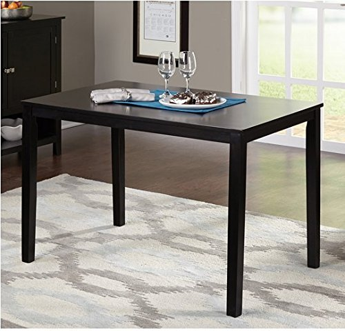 Simple Living Black Contemporary Rectangle Wood Shaker Black Dining Table