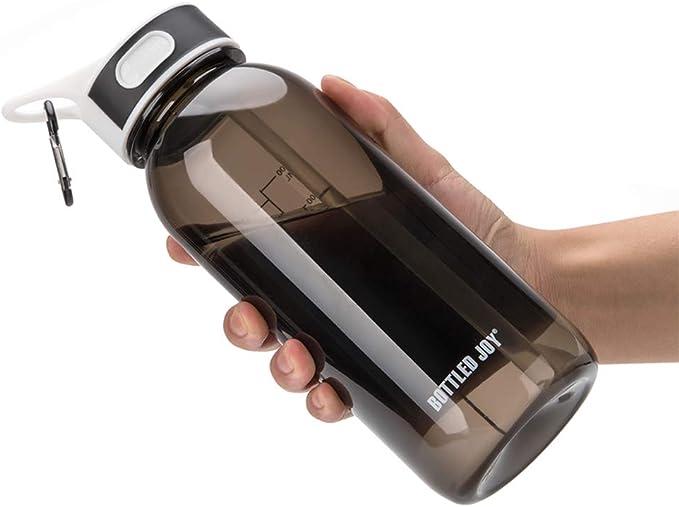 Vennerli Sports Water Bottle With Straw 1litre Leakproof Durable Tritan Bpa Free Gym Flip Sipper Bottle Dustproof With Marking Dustproof Leakproof 1l Black Amazon Co Uk Sports Outdoors