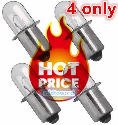 addtoword (4) Hitachi 18 Volt Xenon Bulb for A-90261 Flashlight