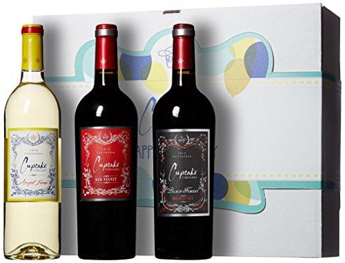 Cupcake Vineyards Happy Birthday Blends Wine Gift Box, 3 x 750 mL (Wine Birthday Gift Baskets)