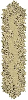 product image for Heritage Lace Leaf 14-Inch by 68-Inch Runner, Earth