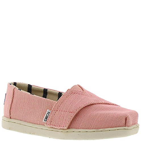 TOMS Kids Baby Girl's Venice Collection Alpargata (Infant/Toddler/Little Kid) Powder Pink Heritage Canvas 6 M US -