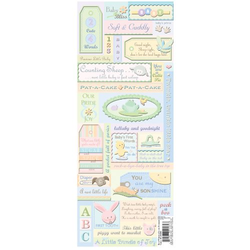 K&Company Baby Words Embossed Stickers