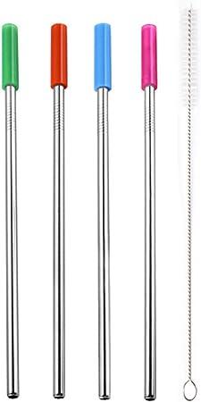 316 Acier Inoxydable pailles-Lot De 3 Pailles Pailles Brosse de nettoyage