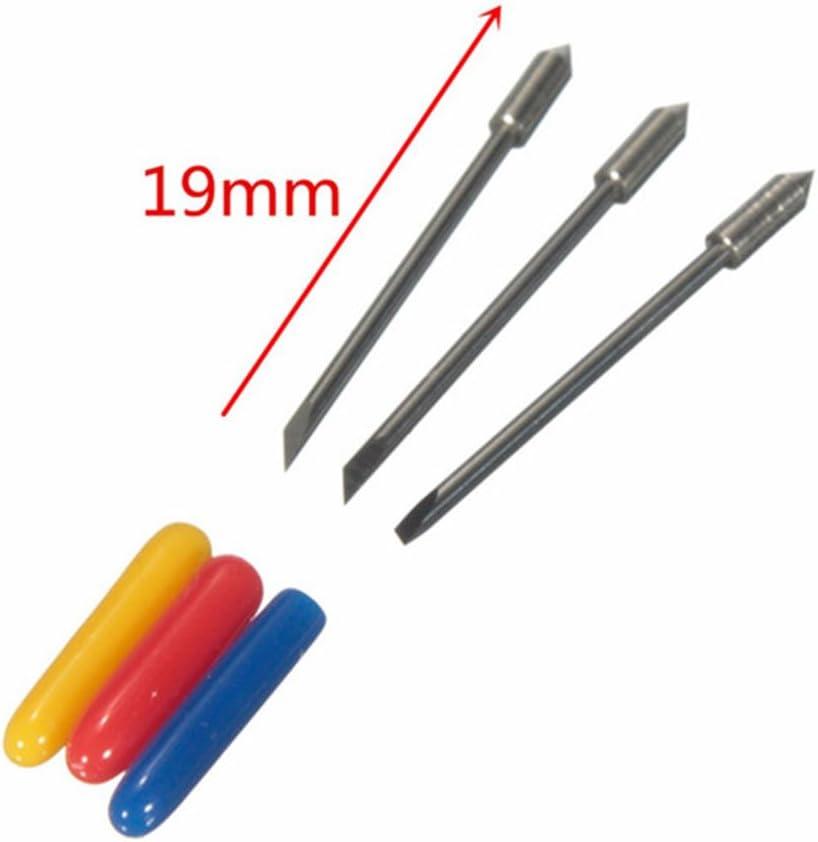 Yakamoz Pack de 15 cuchillas para cortador de vinilo de corte plotter Graphtec CB09 Silhouette Cameo Craft Robo Pro con suspensión para, 30/45/60 Grado: Amazon.es: Electrónica