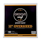 """50 Vinyl Record Sleeves - 13.125"""" x 13.125"""" 5.5 Mil Crystal Clear Album Sleeves - Fits 12 Inch Single, Double, and Gatefold LPs - Protect Your Record Collection"""