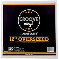 Oversized Premium Outer Record Sleeves For 12 Inch Vinyl Records (50 Pack)