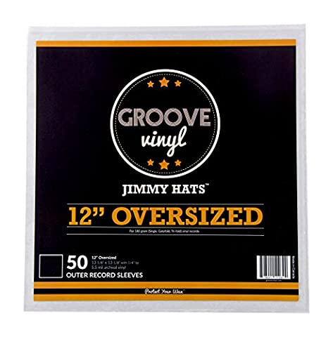 Oversized Premium Outer Record Sleeves For 12 Inch Vinyl Records (50 Pack) (Premium Pvc)
