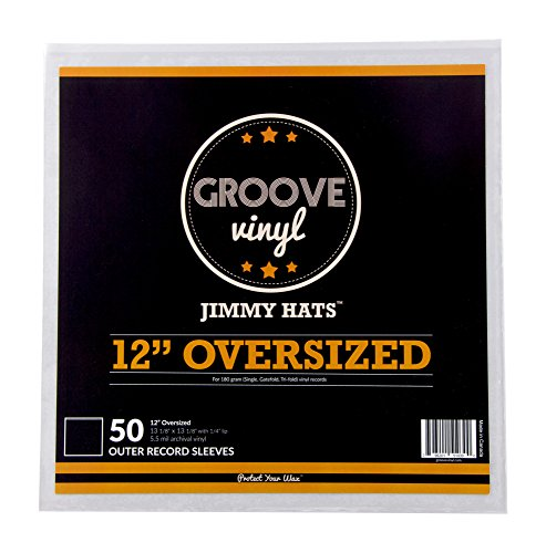 12 Inch Oversized Premium Outer Record Sleeves For Double And Tri-Fold Albums (50 Pack)