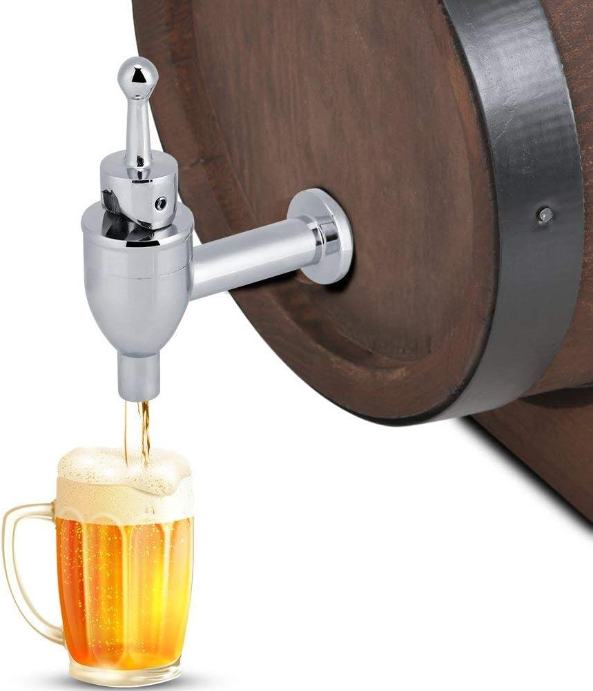 Wine Beer Copper Faucet Tap Barrel Beverage Drink Dispenser Replacement Spigot Wine Making Beer Brewing Kegs Kegging(Chrome)