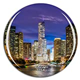 Weekino America USA Chicago Illinois River Fridge Magnet 3D Crystal Glass Tourist City Travel Souvenir Collection Gift Strong Refrigerator Sticker