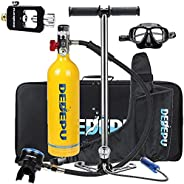 Mini Scuba Tank Snorkeling Set, 1L Scuba Diving Tank Oxygen Cylinder Diving Equipment with Hand High Pressure