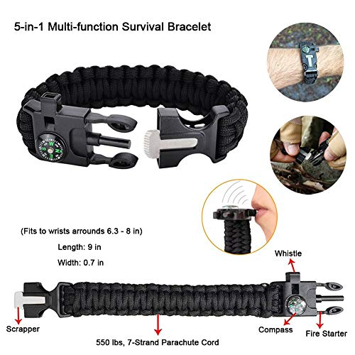 Gifts for Men Husband Dad Friend, Emergency Survival Kit 16 in 1, Upgrade Compact Survival Gear, Cool EDC Survival Tool…