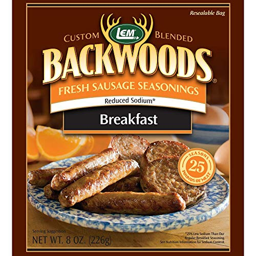 LEM 9164 Backwoods Low Sodium Fresh Breakfast Seasoning (25-Lbs)