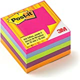 Bloco Adesivo Post-it® 76mm x 76mm, Cubo Tropical c/450 fls - 3M