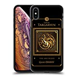 Official HBO Game of Thrones Targaryen Border Golden Sigils Hard Back Case for iPhone Xs Max