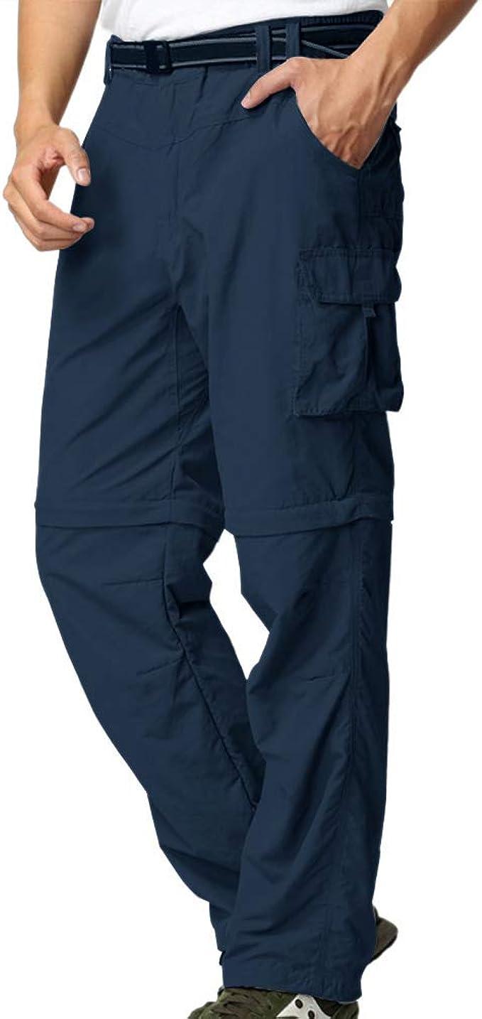 Men/'s Quick Dry Convertible Pantalon outdoor randonnée Cargo Sport Pantalon Y # J