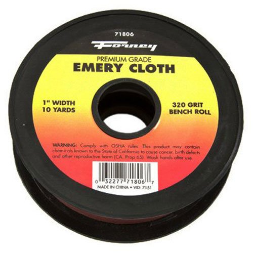 Forney 71806 Emery Cloth, 320-Grit, 1-Inch by 10-Yard Bench Roll Forney Industries