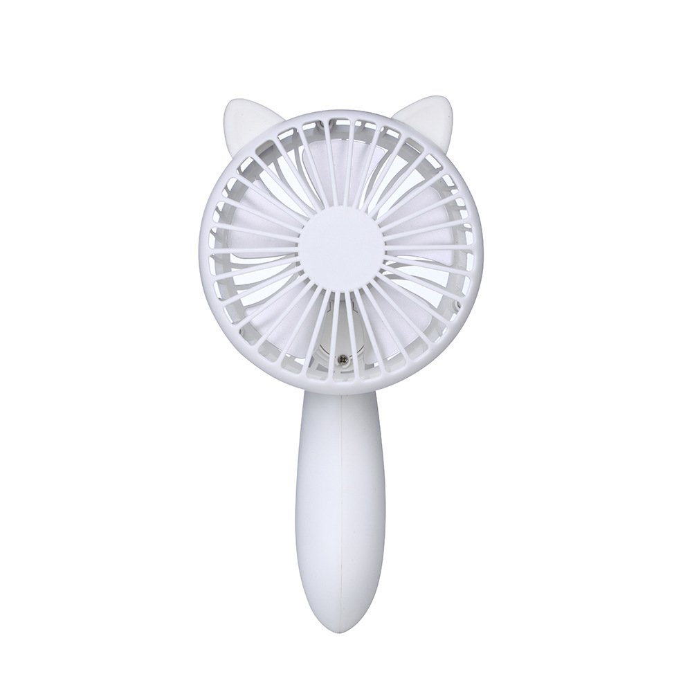 Outdoor Portable Mini Noiseless Handheld USB Fan,MeiLiio 180 Degree Twist Summer Cooling Fan with 3 Speed Adjustable USB Charging Powered Rechargeable Battery 1200mAh Gift Fans Travel Cooler (White)