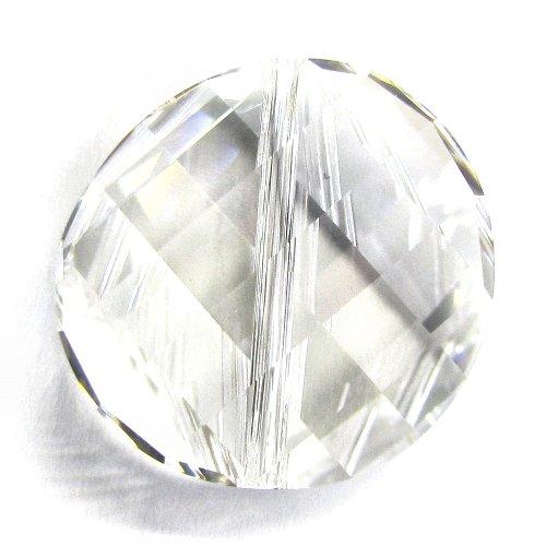 1 pc Swarovski Crystal 5621 Twist Bead Charm Pendant Clear 18mm / Findings / Crystallized (Swarovski Crystal Twist)
