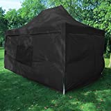Quictent privacy 10×15 EZ Pop Up Canopy Tent Instant Fodling Party Tent Photo Booth with Sidewalls and Mesh Windows Waterproof Black For Sale