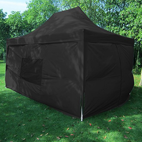 Big Sales!Quictent privacy Pyramid-roofed 10x15 Black Mesh Curtain EZ Pop Up Party Tent Canopy Gazebo photo booth 3 adjust point