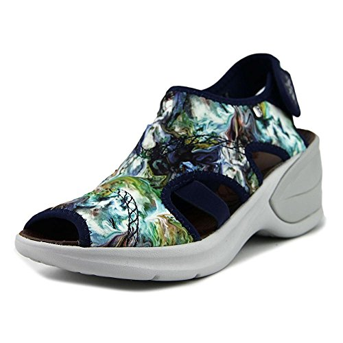 Bzees Womens Kiss Sandal Blue Multi