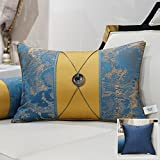 HOMEE a New Modern Chinese Chip-Pillow Sofa Pillow Back Lumbar Pillow Cushion Large Armful Pillows Kit,The Lifting Eyebolt Blue,45X45Cm