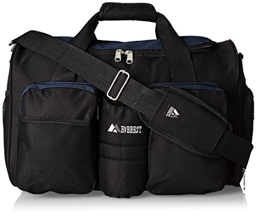 Everest S-223 Sports Duffel w/Shoe/Wet Dry Pocket - Navy/Bla