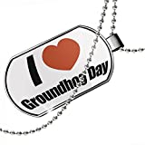 Dogtag I Love Groundhog Day Dog tags necklace - Neonblond
