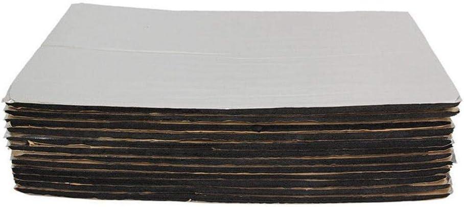 mooderff 12Pcs Tapis de Voiture Isolant Mod/ération du Bruit Acoustique du Moteur pour Portes Toits Sols Malles 30cm X 50cm 5 Mm Isolation Thermique et Sonore Tapis Dinsonorisation
