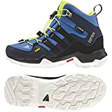 adidas Children's Terrex Mid GORE-TEX K Hiking Shoe,Super Blue/Black/Solar Yello