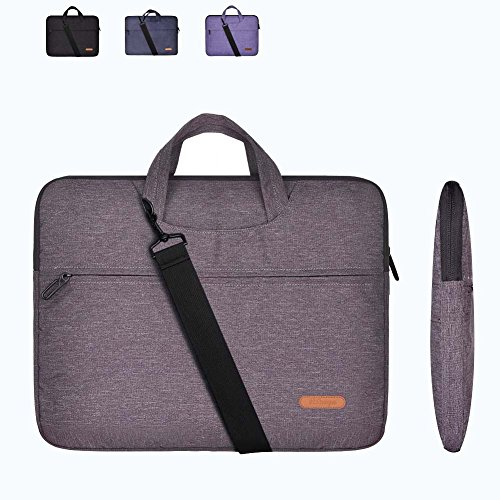 15 Inch Laptop Sleeve Bag Grey(Not Fade) with Handle and Shoulder Strap for MacBook Air/ Pro,Acer, Asus, Dell, Lenovo, HP, Samsung,Sony,Toshiba-Chromebook Notebook Carrying Case Tablet