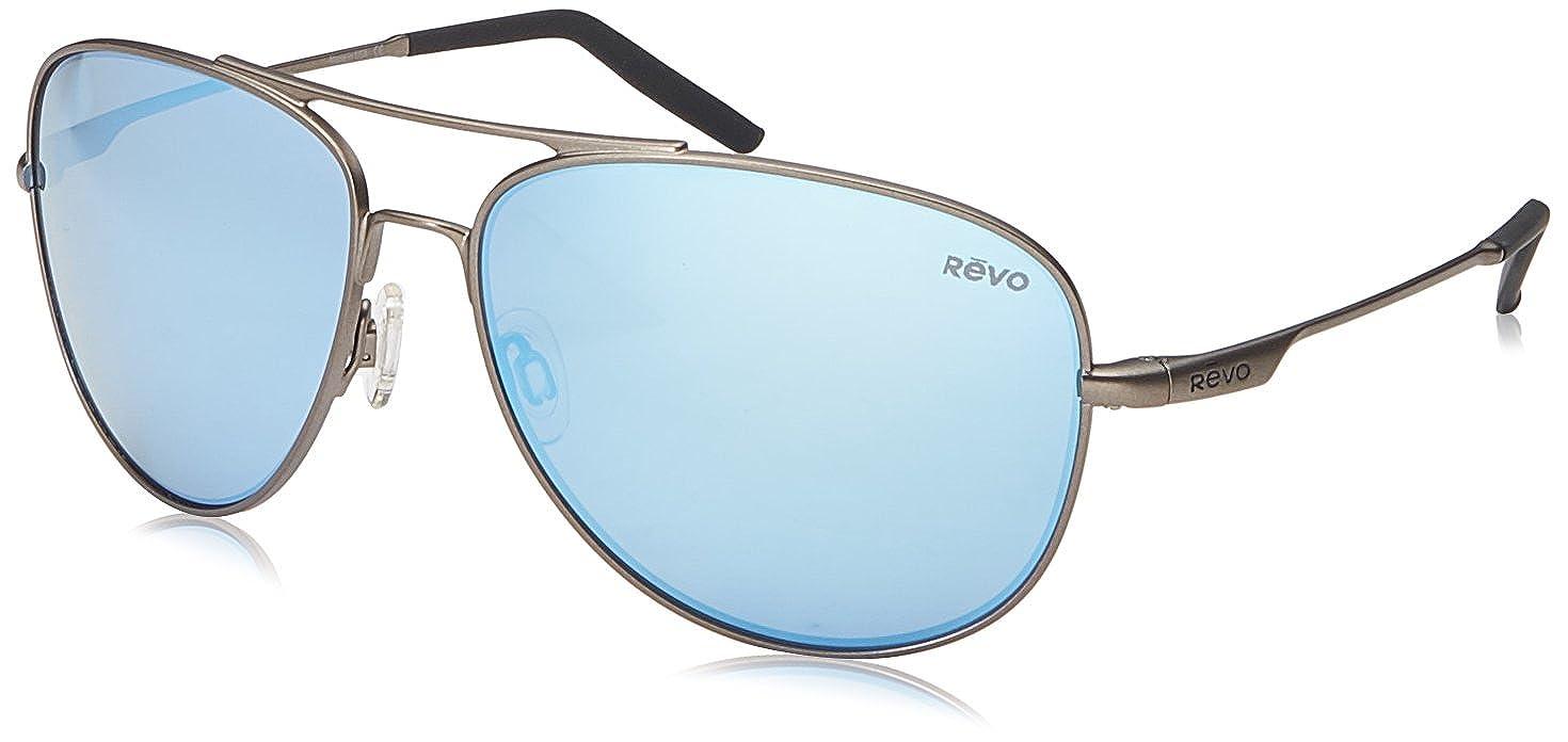 d3f3145d730 Amazon.com  Revo Unisex Unisex RE 3087 Windspeed Aviator Polarized UV  Protection Sunglasses  Clothing