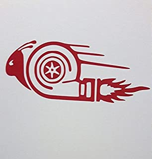 JDM Racing Turbo Snail Vinyl Decal Sticker|RED|Cars Trucks Vans SUV Laptops Wall