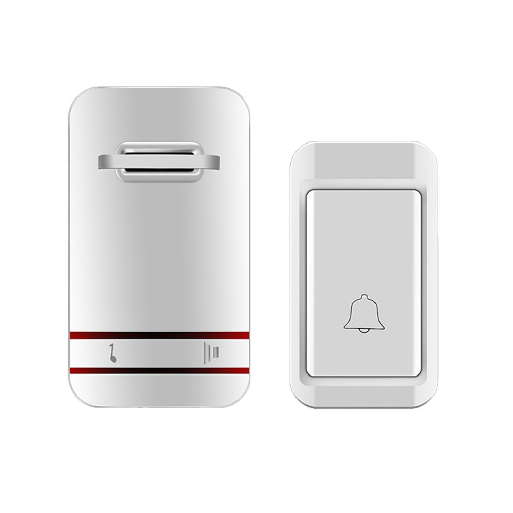 MUTANG Self-Generating Powered Wireless Doorbell Kit No Battery Required Weatherproof Electric Door Chime Multiple Choices (Color : A)